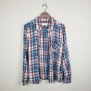 Universal Thread Blue and Pink Flannel